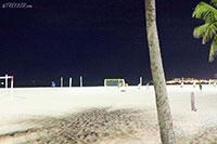 Copacabana beach at night