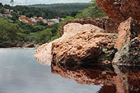 Red smooth rocks are one of the special things in Diamantina
