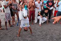capoeira at the beach in Jericoacoara